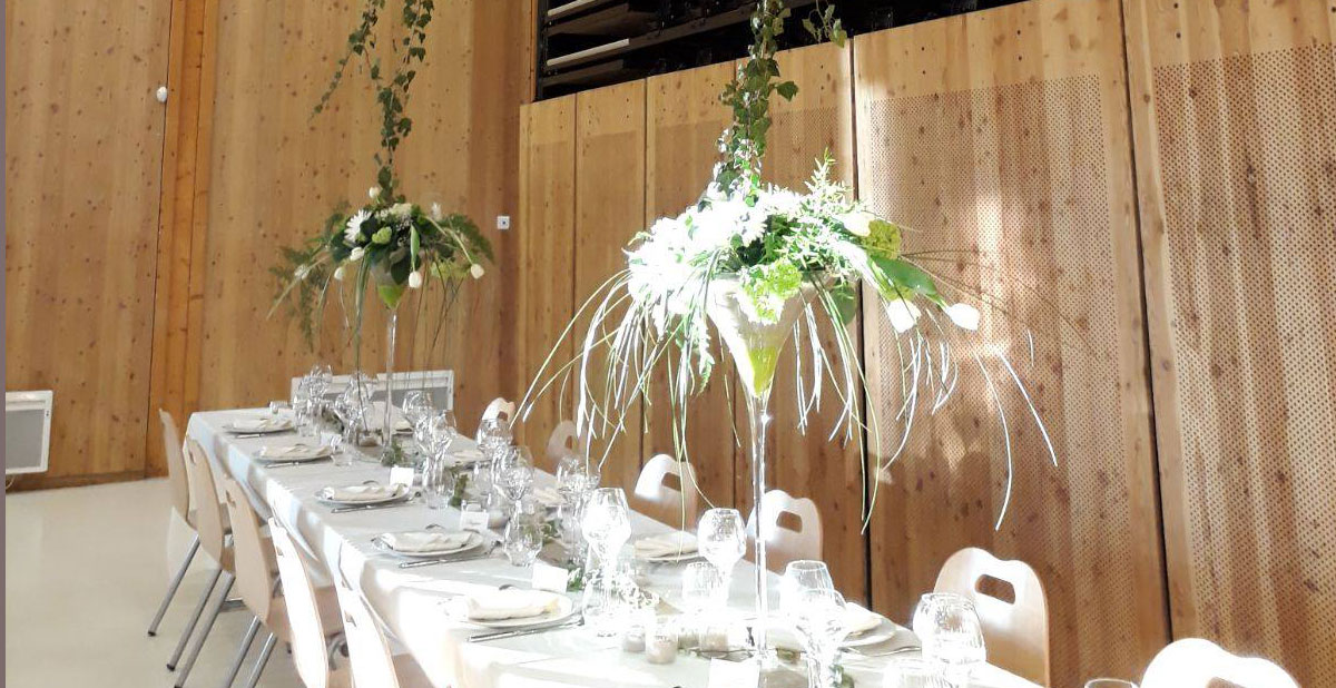 Bouquet de table verre martini