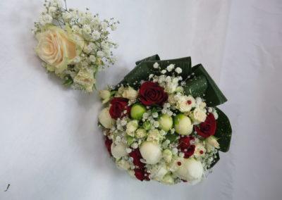 Bouquet de mariage et boutonnière