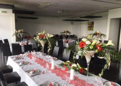 Décoration table salle de mariage