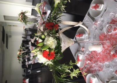 Décoration table événement mariage coupe