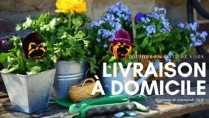 Livraison a domicile proposée par la jardinerie Jurassienne